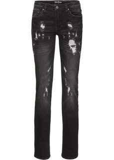 Прямые стретчевые джинсы, cредний рост (N) (синий) Bonprix