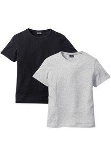 Длинная футболка Regular Fit (2 шт.) (белый + черный) Bonprix