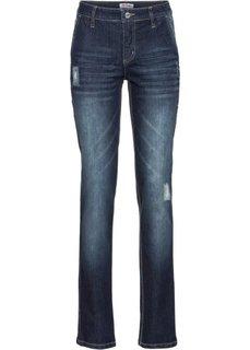 Прямые стретчевые джинсы, низкий рост (K) (голубой) Bonprix