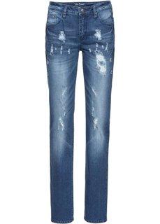 Прямые стретчевые джинсы, cредний рост (N) (черный) Bonprix
