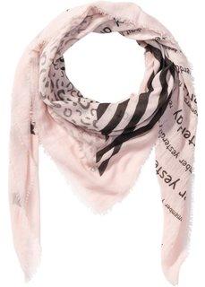 Платок XXL со смешанным принтом (розовый) Bonprix