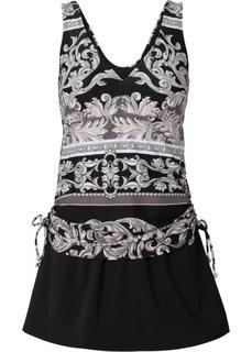 Купальное платье (черный/серый) Bonprix