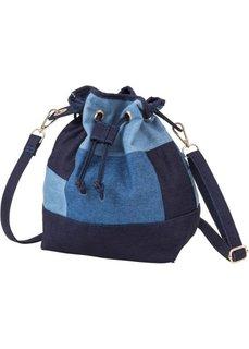 Сумка-мешок с джинсовыми заплатками (синий/темно-синий/голубой микс) Bonprix