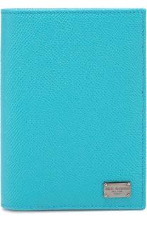 Кожаная обложка для паспорта с отделением для кредитных карт Dolce & Gabbana