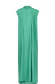 Платье-макси прямого кроя с воротником-стойкой Balenciaga