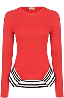 Пуловер фактурной вязки с контрастной отделкой MRZ