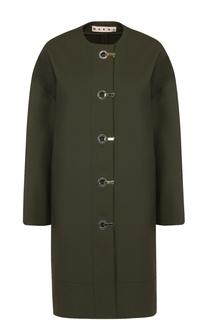 Пальто прямого кроя с круглым вырезом Marni