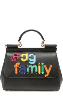 Сумка Sicily medium с аппликацией DG Family Dolce & Gabbana