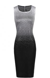 Приталенное мини-платье с металлизированной отделкой St. John