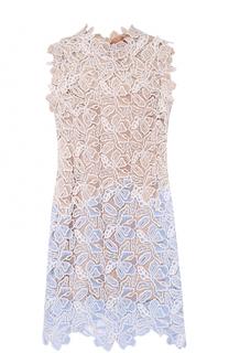 Кружевное платье-миди без рукавов No. 21