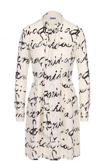 Приталенное платье-миди с воротником аскот Sonia by Sonia Rykiel