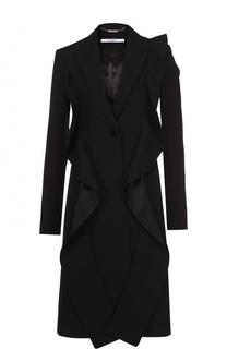 Приталенное пальто с оборками Givenchy