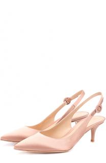 Атласные туфли Jackie с ремешком Gianvito Rossi