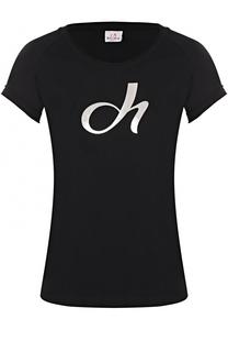 Спортивная футболка с контрастной отделкой Deha