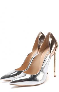Туфли из металлизировнной кожи на шпильке Blade Casadei