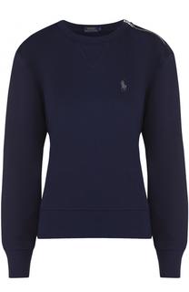 Свитшот свободного кроя с вышитым логотипом бренда Polo Ralph Lauren