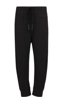 Укороченные брюки из смеси льна и хлопка с заниженной линией шага Lost&Found Lost&Found