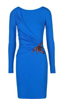 Платье-футляр с драпировкой и декоративной отделкой Emilio Pucci