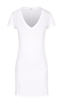 Хлопковая сорочка прямого кроя с V-образным вырезом Back Label