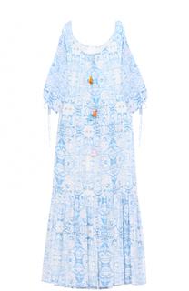 Платье-макси свободного кроя с укороченным рукавом Athena Procopiou