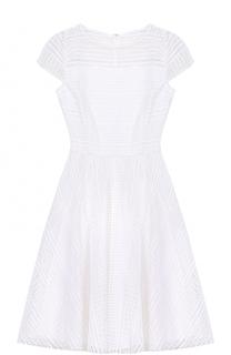 Приталенное кружевное платье-миди St. John