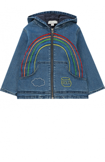 Джинсовая куртка с капюшоном на молнии Stella McCartney