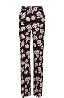 Расклешенные брюки со стрелками и цветочным принтом Rochas