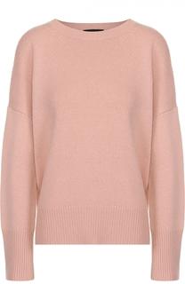 Кашемировый пуловер свободного кроя со спущенным рукавом Theory