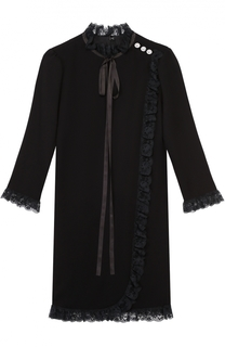Мини-платье с укороченным рукавом и кружевной отделкой Marc Jacobs