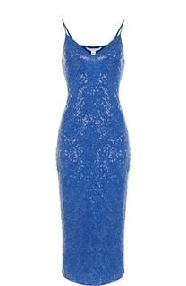 Приталенное шелковое платье с пайетками Diane Von Furstenberg