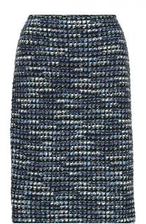 Буклированная юбка-миди прямого кроя St. John