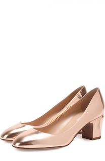 Туфли Tan-Go из металлизированной кожи на низком каблуке Valentino