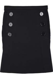 Прямая мини-юбка с декоративными пуговицами Sonia by Sonia Rykiel