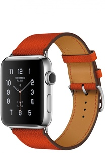 Apple Watch Hermès Series 2 42mm Stainless Steel Case с кожаным ремешком Simple Tour цвета Feu Apple
