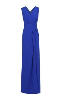 Платье-макси с драпировкой и высоким разрезом Escada