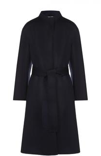 Шерстяное пальто с поясом и широким рукавом Escada