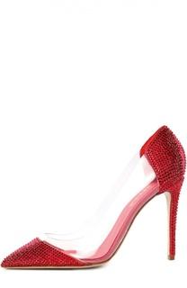 Туфли со стразами на шпильке Le Silla