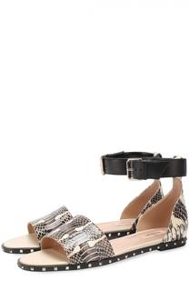 Кожаные сандалии Soul Rockstud с тиснением Valentino