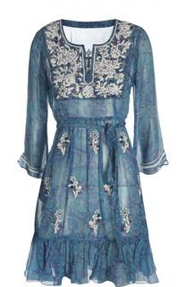 Пляжное платье с поясом Leaves Of Grass