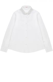 Рубашка из хлопка с отложным воротником Il Gufo