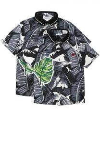Комплект из двух рубашек из хлопка с принтом Dolce & Gabbana