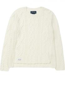 Пуловер фактурной вязки с разрезами по бокам Polo Ralph Lauren