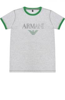 Футболка джерси с логотипом бренда Giorgio Armani