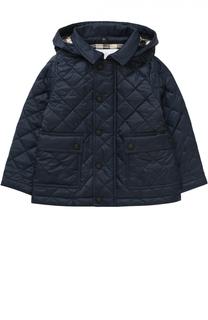Утепленная стеганая куртка с капюшоном Burberry