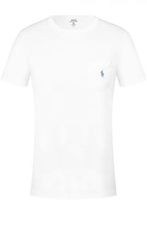 Хлопковая футболка с круглым вырезом и нагрудным карманом Polo Ralph Lauren