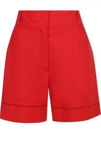 Льняные мини-шорты с карманами Escada Sport