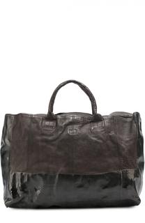 Кожаная дорожная сумка с плечевым ремнем OXS rubber soul