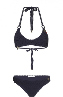 Раздельный вязаный купальник с декоративной отделкой Stella McCartney