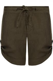 Льняные мини-шорты с эластичным поясом и карманами 120% Lino