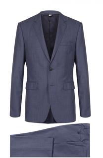 Костюм из смеси шерсти и шелка с пиджаком на двух пуговицах Burberry